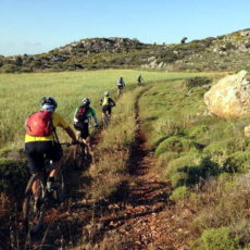 Mountain E-biking in Thirasia Across Santorini